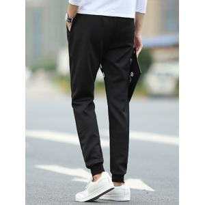 Classic Stripe Design Letter Print Loose-Fit Jogger Pants For Men -