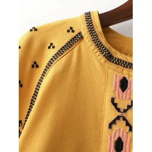 Ethnic Style Trbal Pattern Embroidery Jacket -