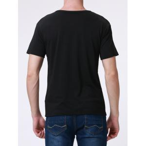 Casual Style Round Neck Short Sleeve Printed T-Shirt For Men -