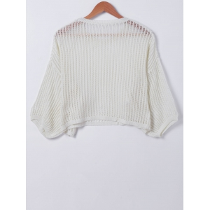 Casual Pure Color Hollow Out Knitwear -