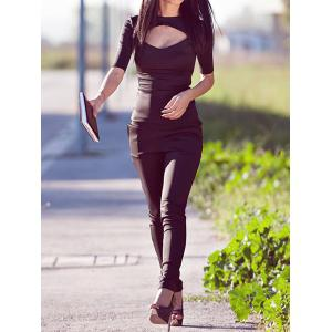 Chic Half Sleeves Cut Out T-Shirt -