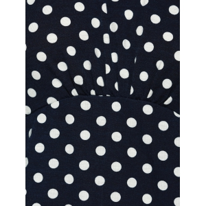 Fashionable Long Sleeve Polka Dot Sheath Dress -