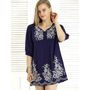 Casual Jacquard Ruched Dress For Women -