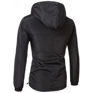 Brief Style Hooded Zipper Flying Jacket For Men - BLACK XL