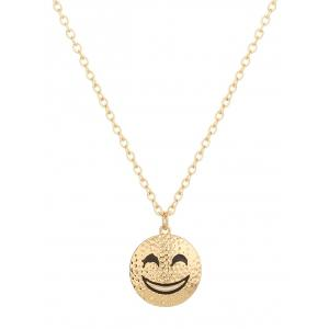Trendy Grinning Face Pure Color Pendant Necklace For Women -