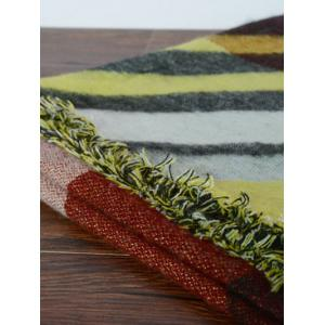 Stylish Rhombus Pattern Wrap Scarf - CLARET