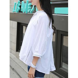 Pure and Plain Embroidery Blouse -
