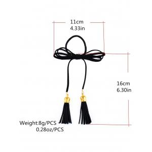 Chic Tassels Elastic Hair Band - BLACK