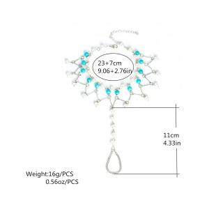 Graceful Faux Turquoise Wedding Jewelry Beaded Anklets -
