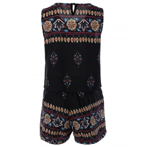 Bohemian Printed Tank Top and Shorts -