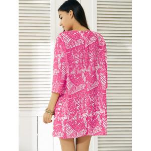 Fashionable Abstract Print Dress For Women - ROSE XL