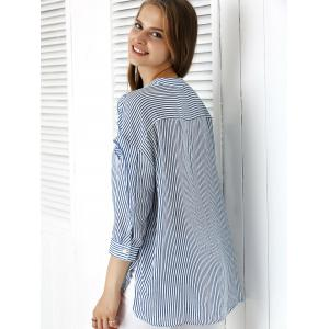 Sweet Striped Tie Front Shirt -
