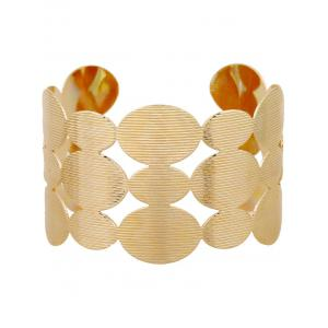 Cut Out Tiered Round Cuff Bracelet - GOLDEN