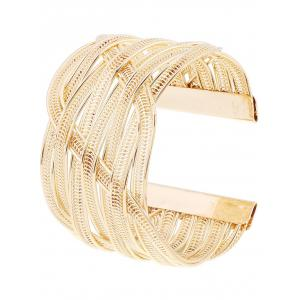Gold Plated Chain Cuff Bracelet -