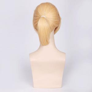 Light Yellow Medium with Ponytail Anime Vocaloid Kagamine Len Cosplay Wig - LIGHT YELLOW