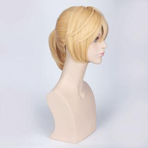 Light Yellow Medium with Ponytail Anime Vocaloid Kagamine Len Cosplay Wig -