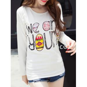 Funny Print Drop Shoulder T-Shirt -