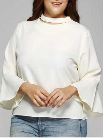 Trendy Solid Color Flare manches ample Blouse