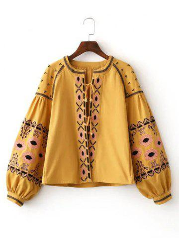 Trendy Ethnic Style Trbal Pattern Embroidery Jacket