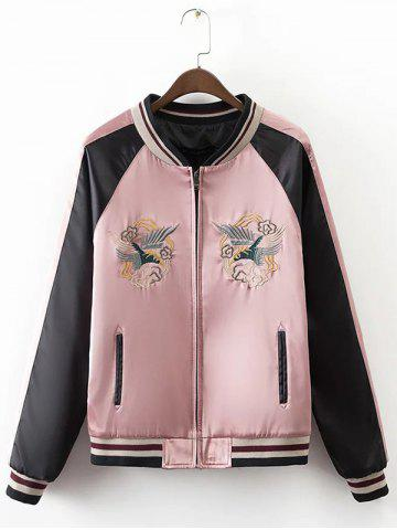 Sale Baby-Doll Embroidery Hit Color Jacket
