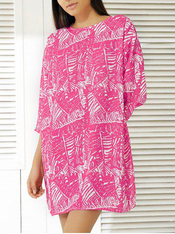 Outfit Fashionable Abstract Print Dress For Women ROSE XL