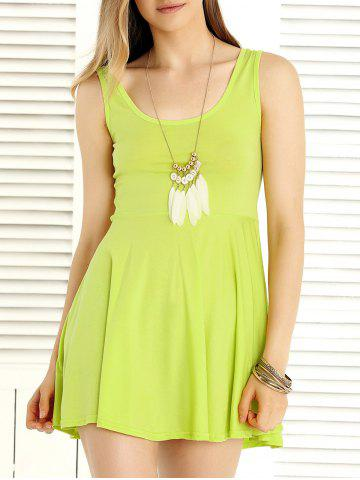 Shop Sweet Pure Color Sleeveless Dress For Women