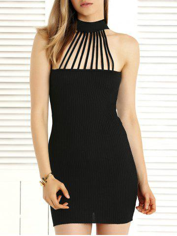Online Alluring Hollow Out Convertible Knitted Dress For Women