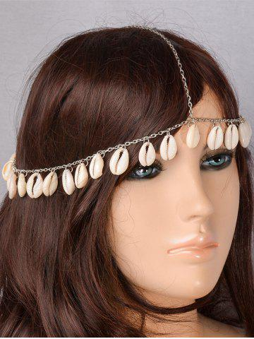 Fancy Bohemian Style Shells Forehead Chain - SILVER  Mobile