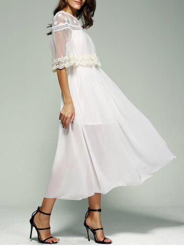 Outfits Crochet Voile Chiffon Prom Swing Maxi Dress