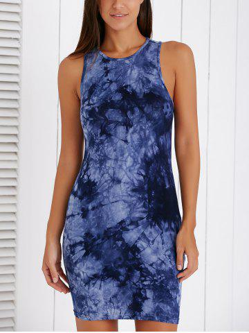 Unique Fashionable Sleeveless Ink Painting Bodycon Dress