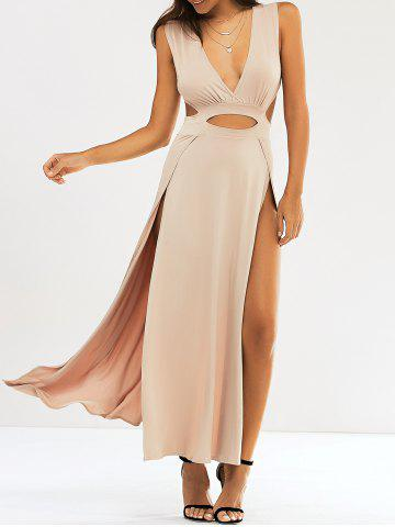 Discount Cut Out Slit Long Night Out Dress