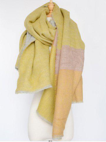 Latest Colorblocked Wool Shawl Wrap Scarf