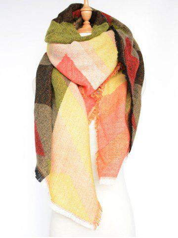 Buy Stylish Rhombus Pattern Wrap Scarf