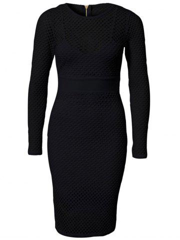 Hot Charming Pure Color Airtex Dress For Women