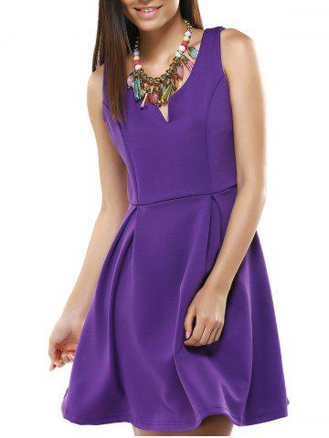 Cheap Stylish Sleeveless Pure Color Dress For Women