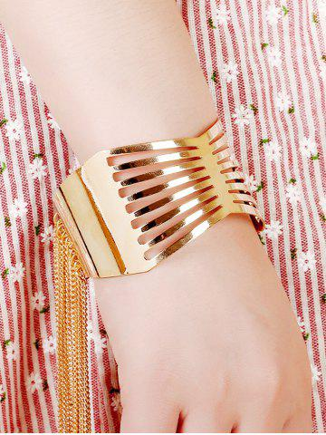Fashion Gold Plated Geometric Fringe Cuff Bracelet PLATINUM