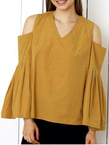 Shop Cute Cold Shoulder Bell Sleeve Blouse