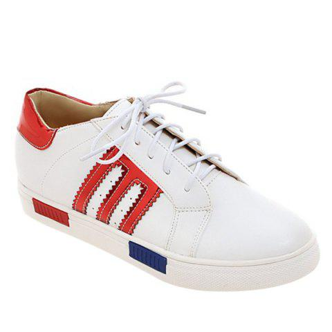 Buy Leisure Stripes and Tie Up Design Athletic Shoes For Women