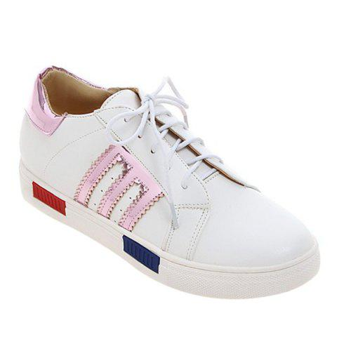 Store Leisure Stripes and Tie Up Design Athletic Shoes For Women