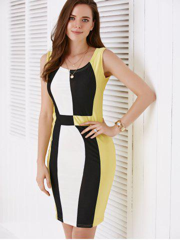 Outfits Chic Scoop Neck Color Block Pullover Women's Dress