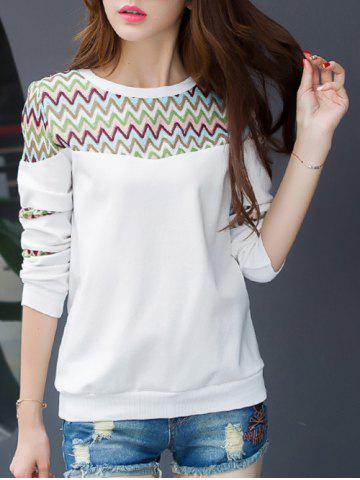New Wave Striped Crew Neck T-Shirt
