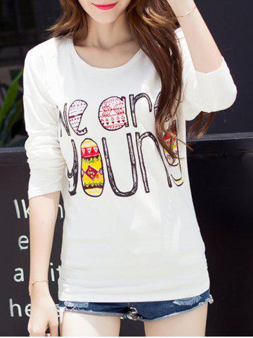Affordable Funny Print Drop Shoulder T-Shirt