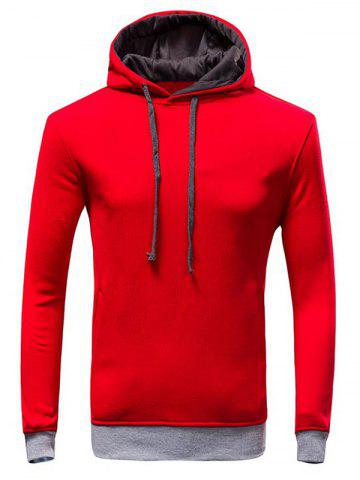 Fashion Color Block Loose-Fitting Long Sleeve Hoodie For Men