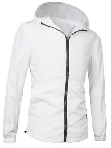 Store Brief Style Hooded Zipper Flying Jacket For Men