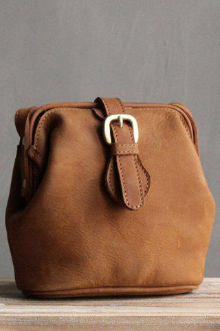 Discount Snap Closure Crossbody Bag - BROWN  Mobile