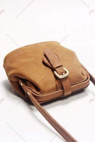 Outfits Snap Closure Crossbody Bag - BROWN  Mobile