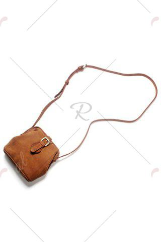 New Snap Closure Crossbody Bag - BROWN  Mobile
