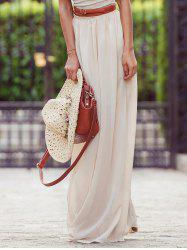 Stylish Solid Color Maxi Skirt For Women - OFF-WHITE