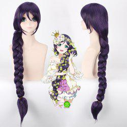Stylish Purple Long With Braided Ponytail Love Live Tojo Nozomi Fairytale Style Cosplay Wig