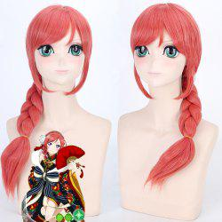 Fashion Orange Long With Braided Love Live Nishikino Maki SR Awake Kimono Cosplay Wig